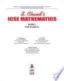 S.Chand ICSE Mathematics Class IX (2021 Edition)
