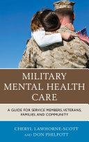 Military Mental Health Care Pdf/ePub eBook
