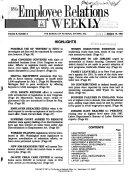 BNA's Employee Relations Weekly
