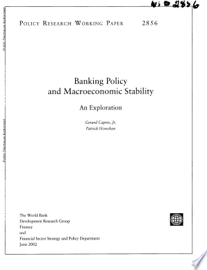 Read Online Banking Policy and Macroeconomic Stability Full Book