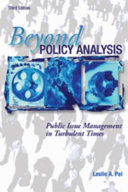Beyond Policy Analysis