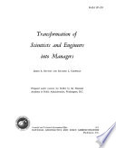 Transformation of Scientists and Engineers Into Managers