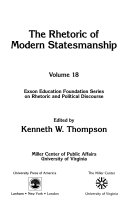 The Rhetoric of Modern Statesmanship