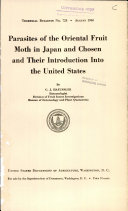 Pdf Parasites of the Oriental Fruit Moth in Japan and Chosen and Their Introduction Into the United States