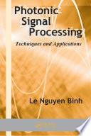 Photonic Signal Processing Book PDF