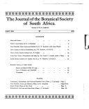 The Journal of the Botanical Society of South Africa