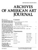 Journal Of The Archives Of American Art Book PDF