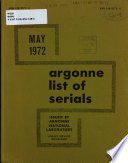 Argonne List of Serials