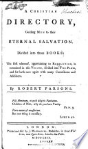 A Christian Directory Guiding Men To Their Eternal Salvation