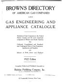 Brown S Directory Of American Gas Companies