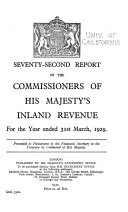 Report of the Commissioners of His Majesty s Inland Revenue