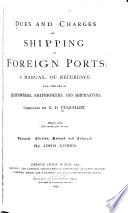 Dues and Charges on Shipping in Foreign Ports