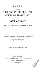 Cases Decided in the Court of Session  Court of Justiciary  and House of Lords Book