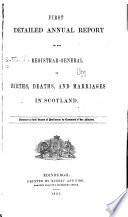 Annual Report Of The Registrar General On The Births Deaths And Marriages Registered In Scotland