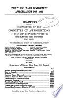 Energy and Water Development Appropriations for 2000