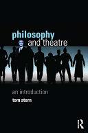 Philosophy and Theatre Pdf/ePub eBook