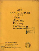 Annual Report of the Texas Alcoholic Beverage Commission to the Governor for the Fiscal Year