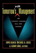 Tomorrow s HR Management