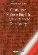 Concise Maltese English, English Maltese Dictionary