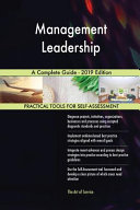 Management Leadership A Complete Guide 2019 Edition