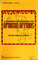 A Current Bibliography On African Affairs Book PDF