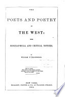 The Poets and Poetry of the West Book
