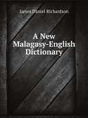 Pdf A New Malagasy-English Dictionary