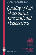 Quality of Life Assessment  International Perspectives Book