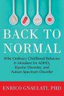 Back to Normal Pdf/ePub eBook