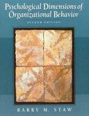 Psychological Dimensions of Organizational Behavior Book PDF