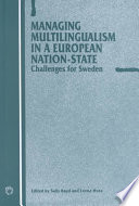 Managing Multilingualism In A European Nation State