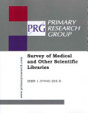 Survey of Medical and Other Scientific Libraries Book