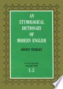 An Etymological Dictionary of Modern English Book PDF