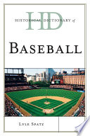 Historical Dictionary Of Baseball