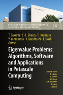 Eigenvalue Problems  Algorithms  Software and Applications in Petascale Computing