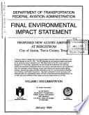 Proposed New Austin Airport at Bergstrom  Travis County