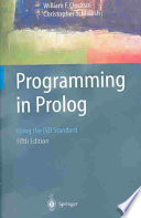 Cover of Programming in Prolog