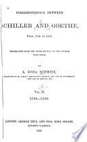 Correspondence Between Schiller And Goethe From 1794 To 1805
