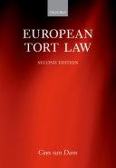 Pdf European Tort Law Telecharger