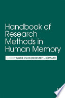 Handbook of Research Methods in Human Memory