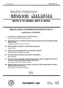 Bulletin   Geological Society of Malaysia Book