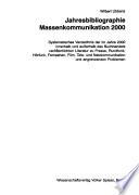 Jahresbibliographie Massenkommunikation