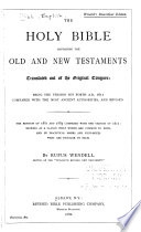 The Holy Bible  Containing the Old and New Testaments Book PDF