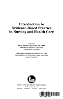 Introduction to evidence based practice in nursing and health care title page fandeluxe Image collections