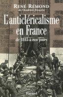 Pdf L'anticléricalisme en France de 1815 à nos jours Telecharger