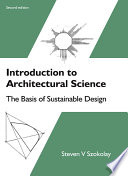 Introduction to Architectural Science