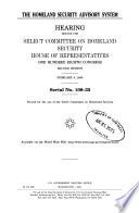 The Homeland Security Advisory System Book PDF
