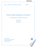 product market regulation in romania, a comparison with oecd countries