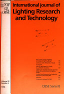 International Journal Of Lighting Research And Technology