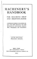 Machinery's Handbook for Machine Shop and Drafting-room